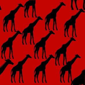 giraff black prints pattern