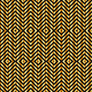 Gold zigzag texture pattern on black