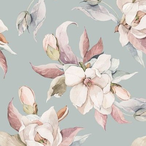 Watercolor magnolia - 038