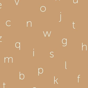 Minimal abc back to school theme alphabet text type design muddy beige sand