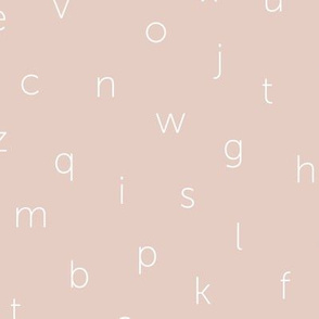 Minimal abc back to school theme alphabet text type design pale misty pink