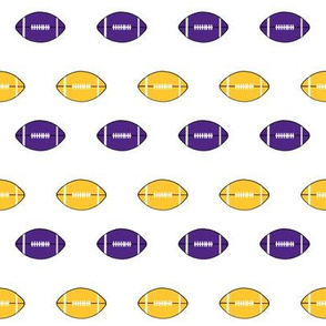 football vikings fabric - american football fabric - yellow and purple