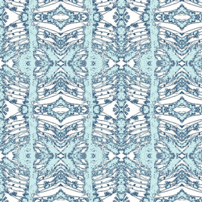 Norfolk Lace - blues and white