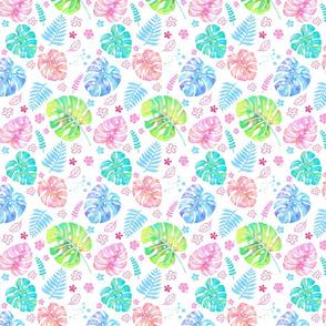 watercolor happy monstera - small