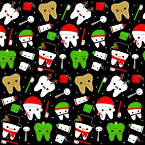 Happy Christmas Teeth - Black