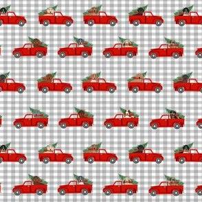 christmas truck fabric, wallpaper \u0026 home decor , Spoonflower