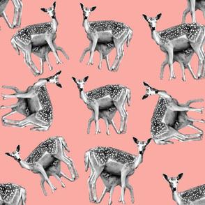 pink bambi print pattern