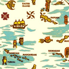 The Islander Matchbook Map 1a