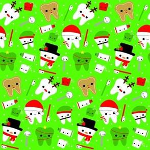 Happy Christmas Teeth - Green