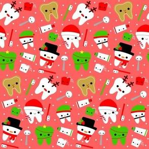Happy Christmas Teeth - Light Red