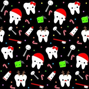 Happy Santa Teeth - Black