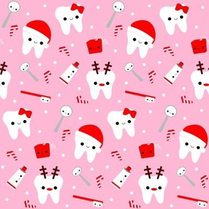 Happy Santa Teeth - Pink