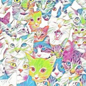 Cat Eyes Caterwaul in Pastel