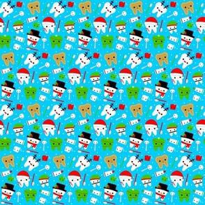SMALL Happy Christmas Teeth - Blue
