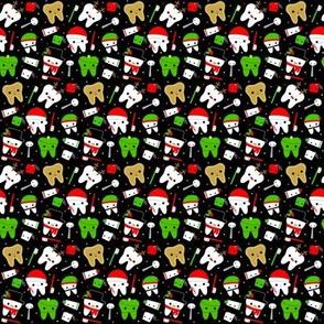 SMALL Happy Christmas Teeth - Black