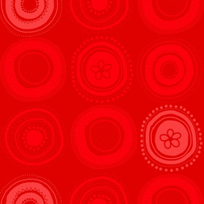 Tribal wheels RED