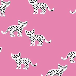 The minimal leopard baby wild cats gender neutral winter kids design girls pink