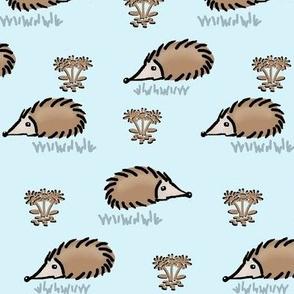 Happy lil Hedgehog / blue