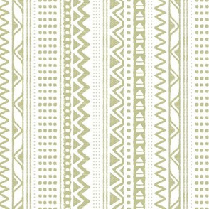 Minimal zigzag mudcloth bohemian mayan abstract indian summer love aztec design dusty olive green white vertical stripes