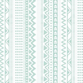 Minimal zigzag mudcloth bohemian mayan abstract indian summer love aztec design soft green vertical stripes