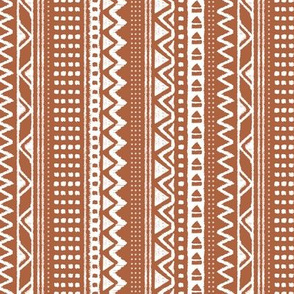 Minimal zigzag mudcloth bohemian mayan abstract indian summer love aztec design rust copper fall vertical stripes