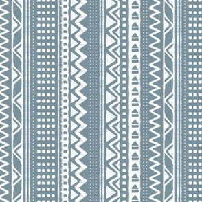 Minimal zigzag mudcloth bohemian mayan abstract indian summer love aztec design cool winter sea blue