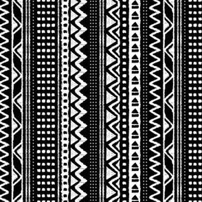 Minimal zigzag mudcloth bohemian mayan abstract indian summer love aztec design dusty monochrome black and white vertical stripes