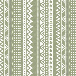 Minimal zigzag mudcloth bohemian mayan abstract indian summer love aztec design dusty olive green vertical stripes