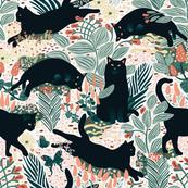 cat fabric, wallpaper & home decor - Spoonflower