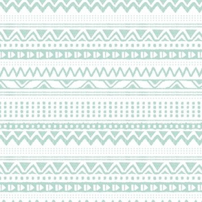Minimal zigzag mudcloth bohemian mayan abstract indian summer love aztec design soft green horizontal stripes