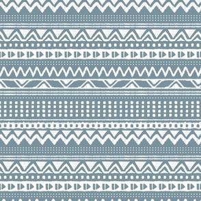 Minimal zigzag mudcloth bohemian mayan abstract indian summer love aztec design dusty stone blue winter horizontal stripes