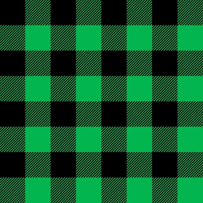 green and black buffalo plaid C19BS