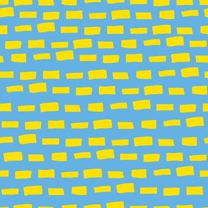 Dashes - Blue and Yellow