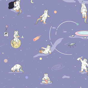 Weird Unicorn Cat in Space