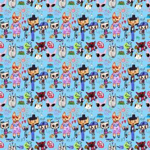 Sophia's Cats (blue)