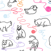 Kitty cat yarn party