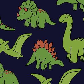 Dark Blue Dinos