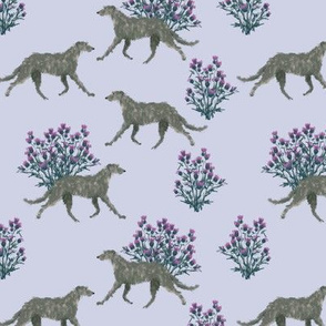 Deerhound and Thistle