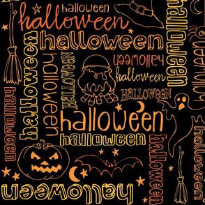 Halloween x halloween lettering