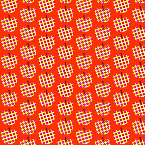 Pop Art Apples in RED