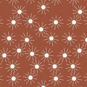 medium // sunshine linen rust suns
