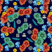 adinkra floral prints