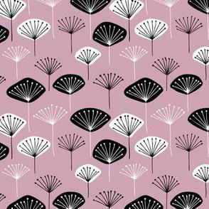 Little Dandelion poppy flowers japanese inspired blossom mauve lilac
