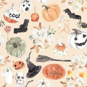"8"" Spooky Little Halloween // Citrine White"