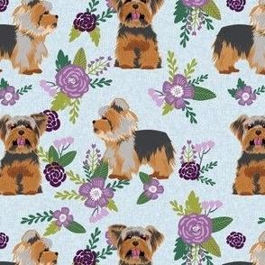 yorkie quilt d floral