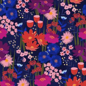 Summer Nights Floral Magenta