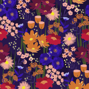 Summer Nights Floral Red