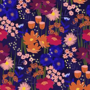Summer Nights Floral Dark