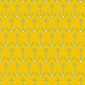 Anchors in yellow gold by Pippa Shaw