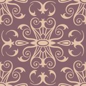 damask | dull purple